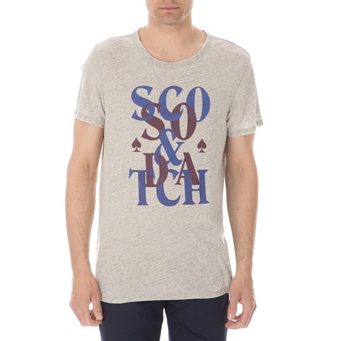 7fe927717e3e Ανδρική κοντομάνικη μπλούζα SCOTCH   SODA μπεζ (1534786.0-00m8 ...