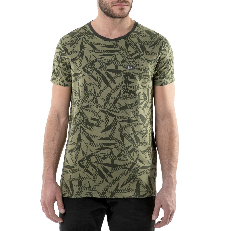 SCOTCH & SODA - Ανδρική κοντομάνικη μπλούζα χακί Scotch & Soda in mix & match pr ανδρικά ρούχα μπλούζες κοντομάνικες