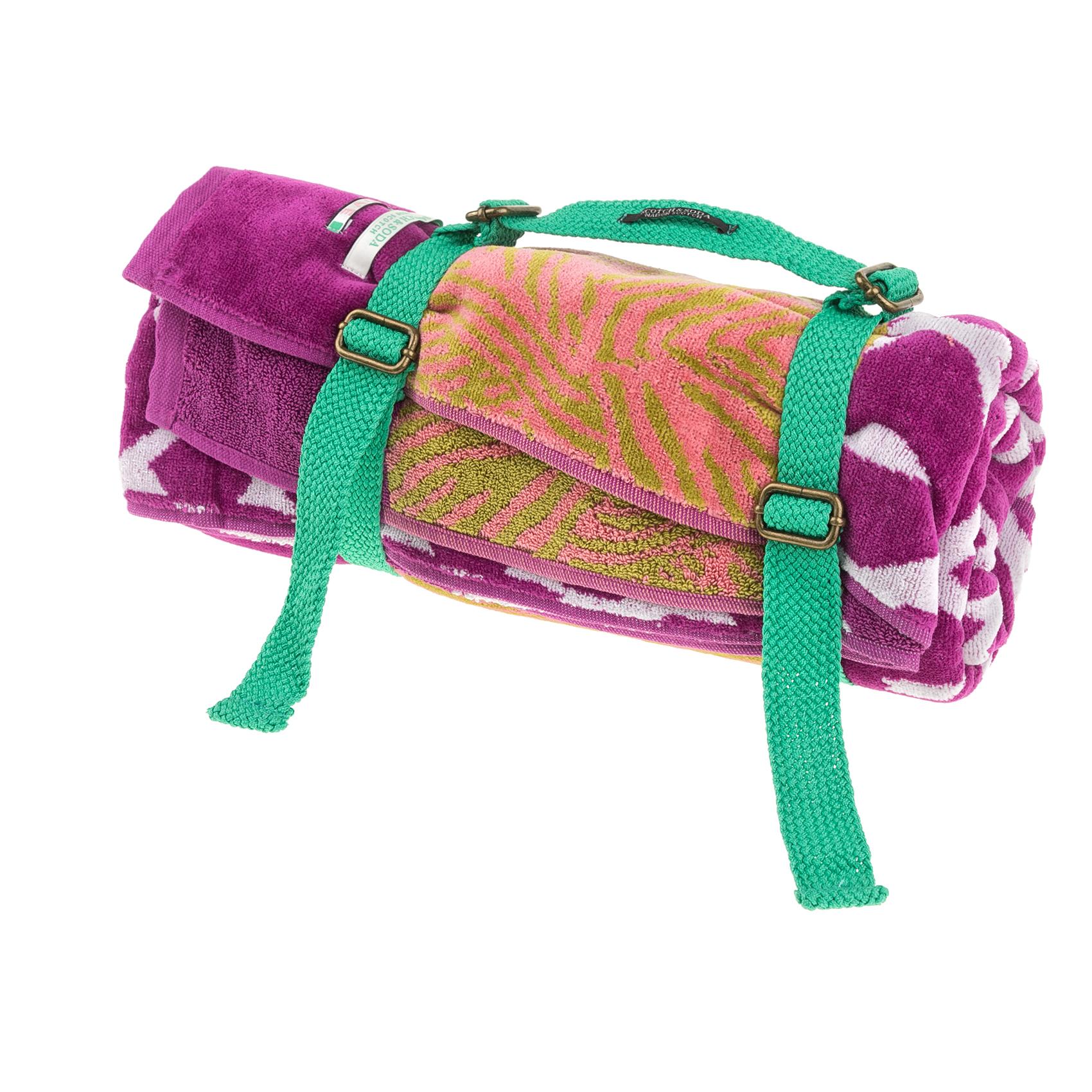 SCOTCH & SODA - Πετσέτα θαλάσσης SCOTCH & SODA μοβ-πορτοκαλί γυναικεία αξεσουάρ πετσέτες
