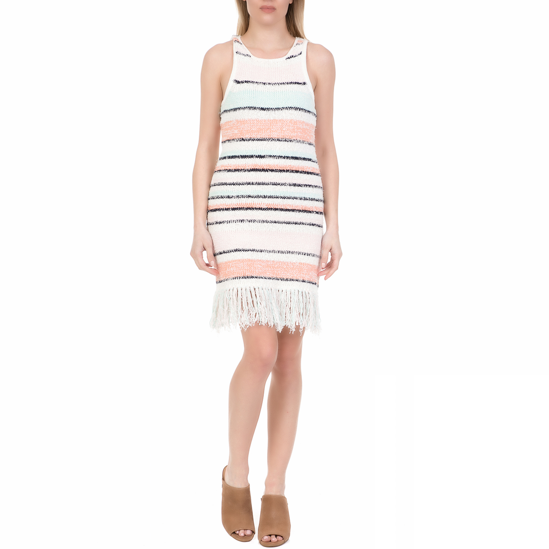 JUICY COUTURE - Γυναικείο πλεκτό μίνι φόρεμα FRINGE SWEATER JUICY COUTURE  ριγέ f7c2c5420a5