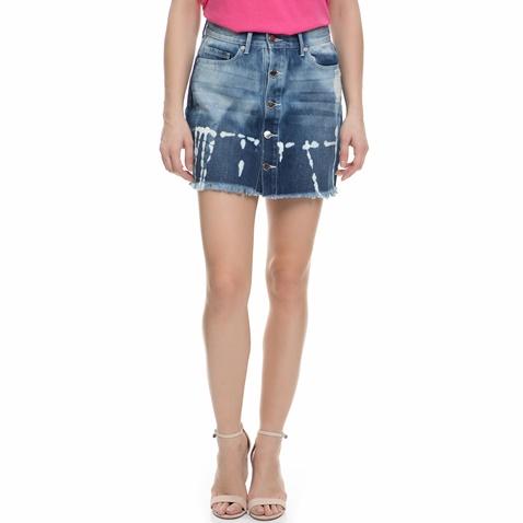 Γυναικεία μίνι τζιν φούστα Juicy Couture μπλε με ξεβάμματα (1535325.0-00e3)   282b6a260d7