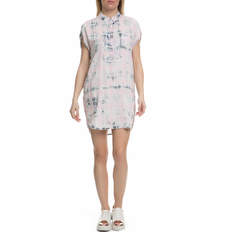 JUICY COUTURE - Γυναικείο μίνι φόρεμα Juicy Couture INDIGO PLAID ροζ γυναικεία ρούχα φορέματα μίνι