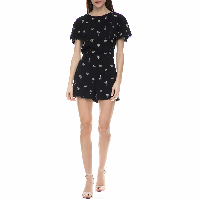 JUICY COUTURE - Γυναικείο ολόσωμο σορτς palm tree Juicy Couture μαύρο γυναικεία ρούχα ολόσωμες φόρμες