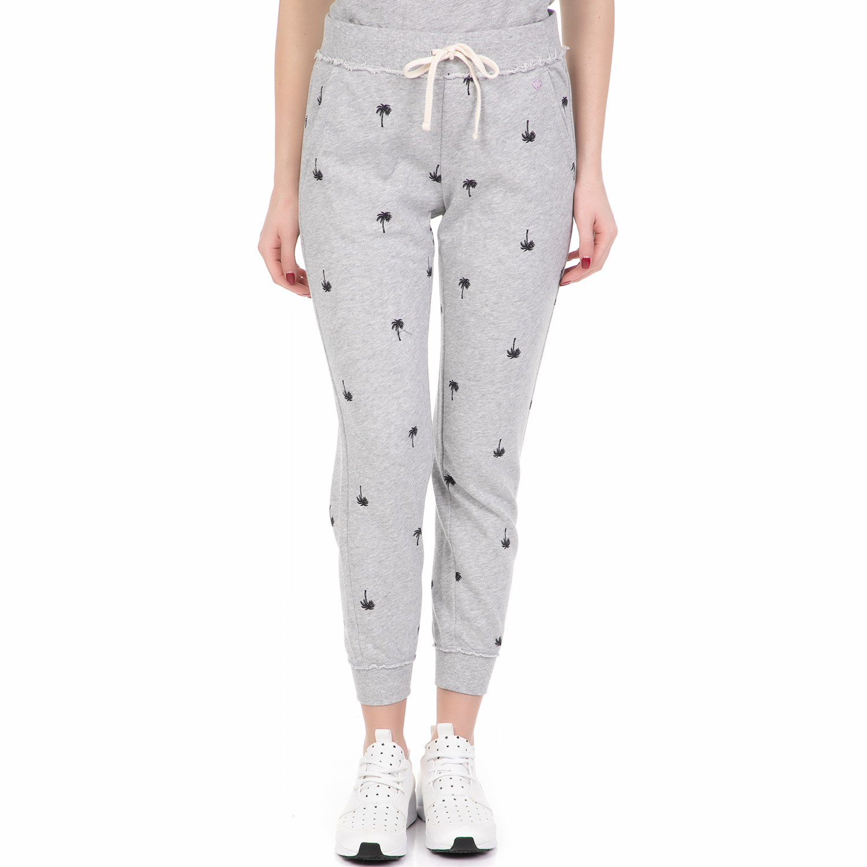 JUICY COUTURE - Γυναικείο παντελόνι φόρμας JUICY COUTURE PALM TREE γκρι γυναικεία ρούχα παντελόνια φόρμες