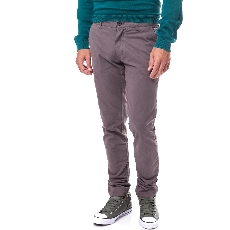 58b177dda95b Ανδρικά   Ρούχα   Παντελόνια   Casual   Classic   Ανδρικό παντελόνι chino  μονόχρωμο The Bostonians - CN800773467 - Γκρι - GoldenShopping.gr