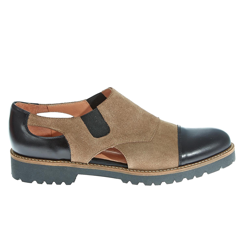 CHANIOTAKIS - Γυναικεία δερμάτινα παπούτσια Chaniotakis μπεζ γυναικεία παπούτσια μοκασίνια μπαλαρίνες μοκασίνια