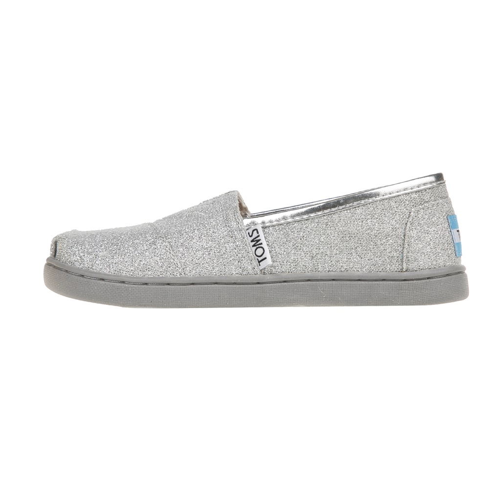 TOMS - Κοριτσίστικες εσπαντρίγιες TOMS ασημί παιδικά girls παπούτσια εσπαντρίγιες slip on