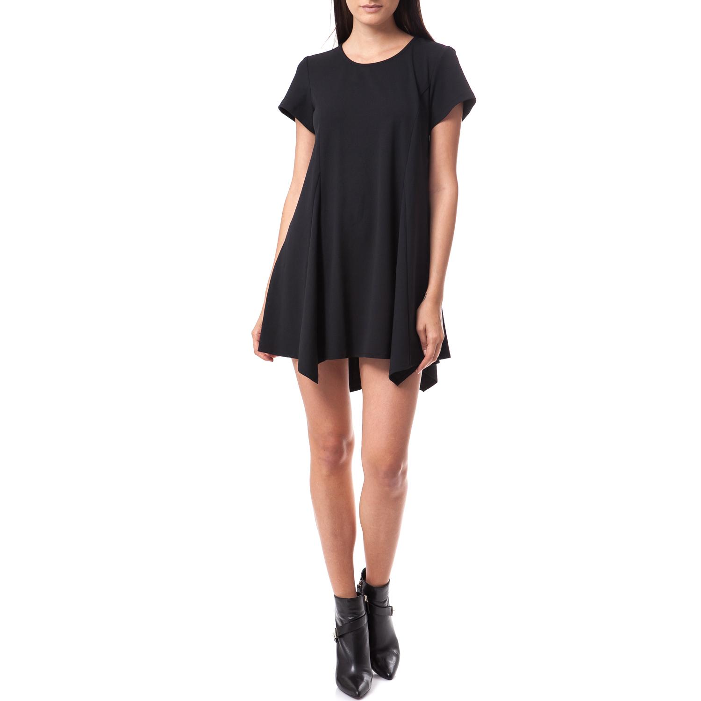 TEA & ROSE - Γυναικείο φόρεμα Tea & Rose μαύρο γυναικεία ρούχα φορέματα μίνι