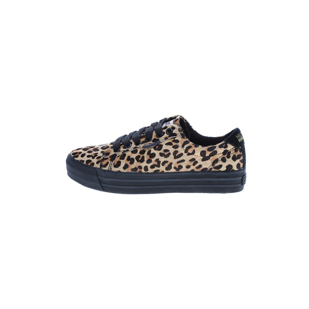 TOMMY HILFIGER – Γυναικεία sneakers TOMMY HILFIGER LYON 10H μπεζ μαύρα