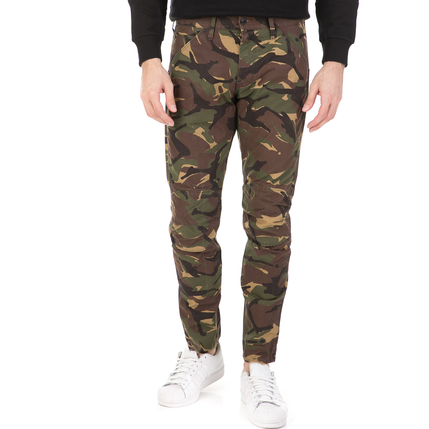 G-STAR RAW - Ανδρικό παντελόνι G-STAR RAW 5622 3D Tapered χακί