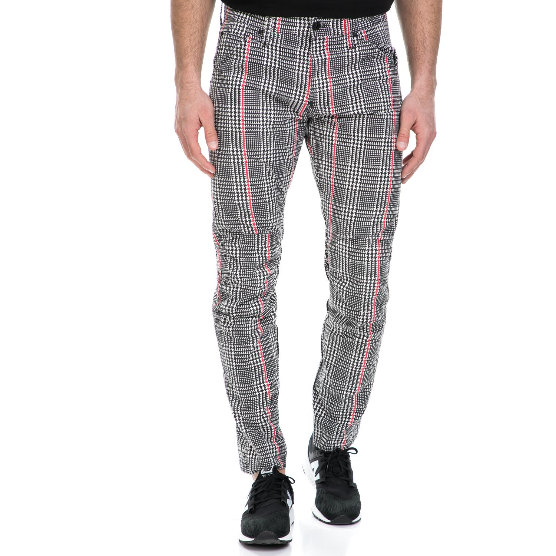 G-STAR RAW - Ανδρικό παντελόνι G-Star Raw 5622 3D Tapered COJ καρό ανδρικά ρούχα παντελόνια ισια γραμή