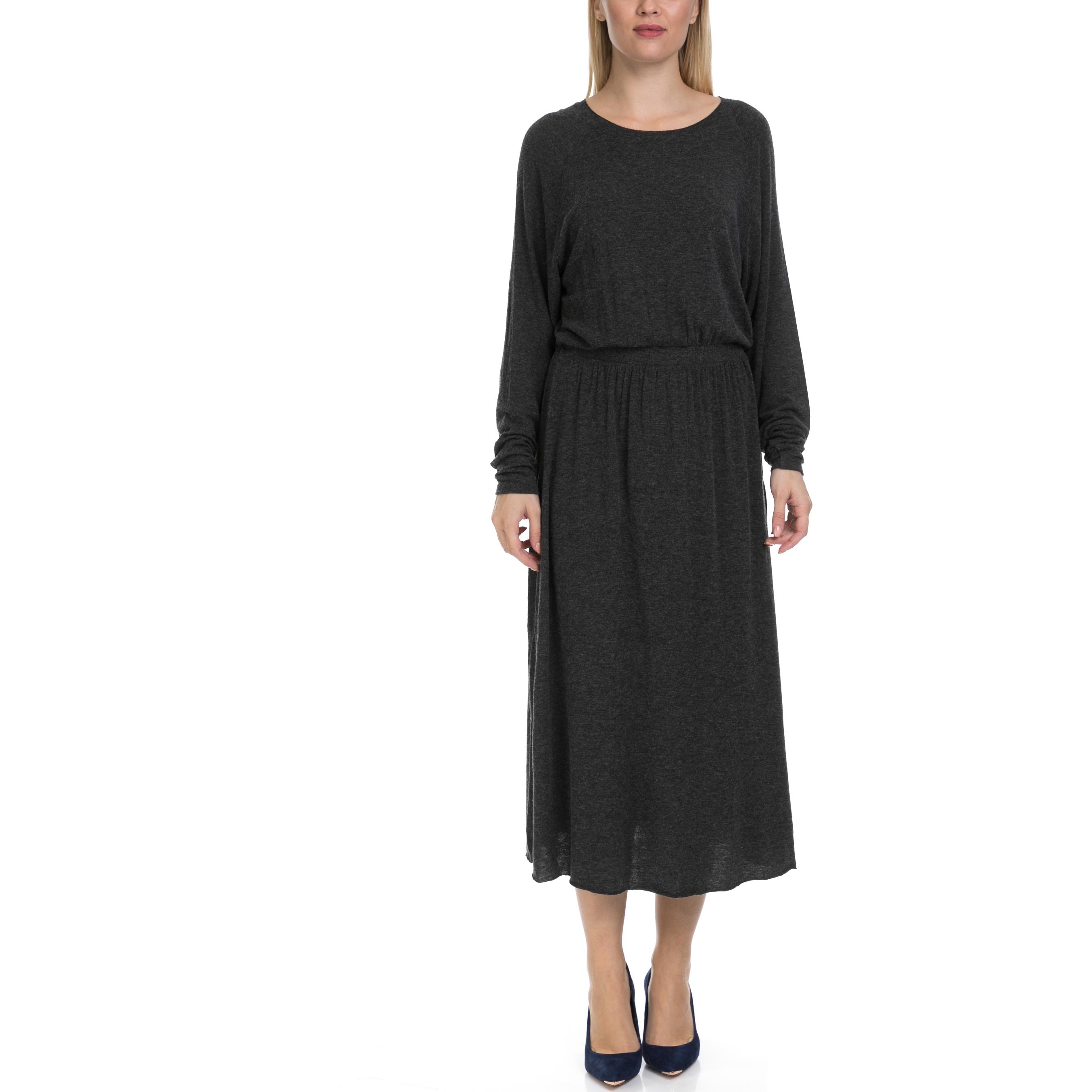 AMERICAN VINTAGE - Γυναικείο μάξι φόρεμα American Vintage ανθρακί γυναικεία ρούχα φορέματα μάξι