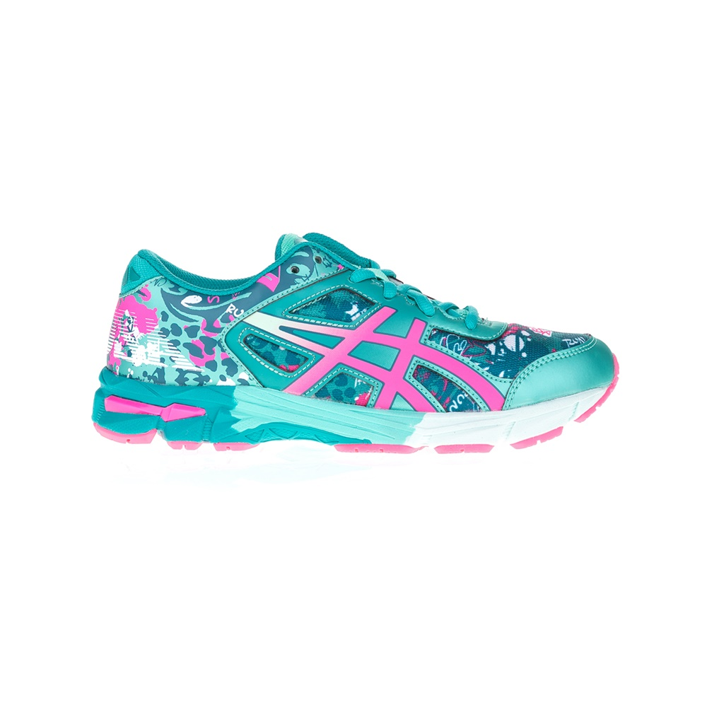 ASICS - Αθλητικά παπούτσια GEL-NOOSA TRI 11 GS ASICS πράσινα-ροζ παιδικά girls παπούτσια αθλητικά
