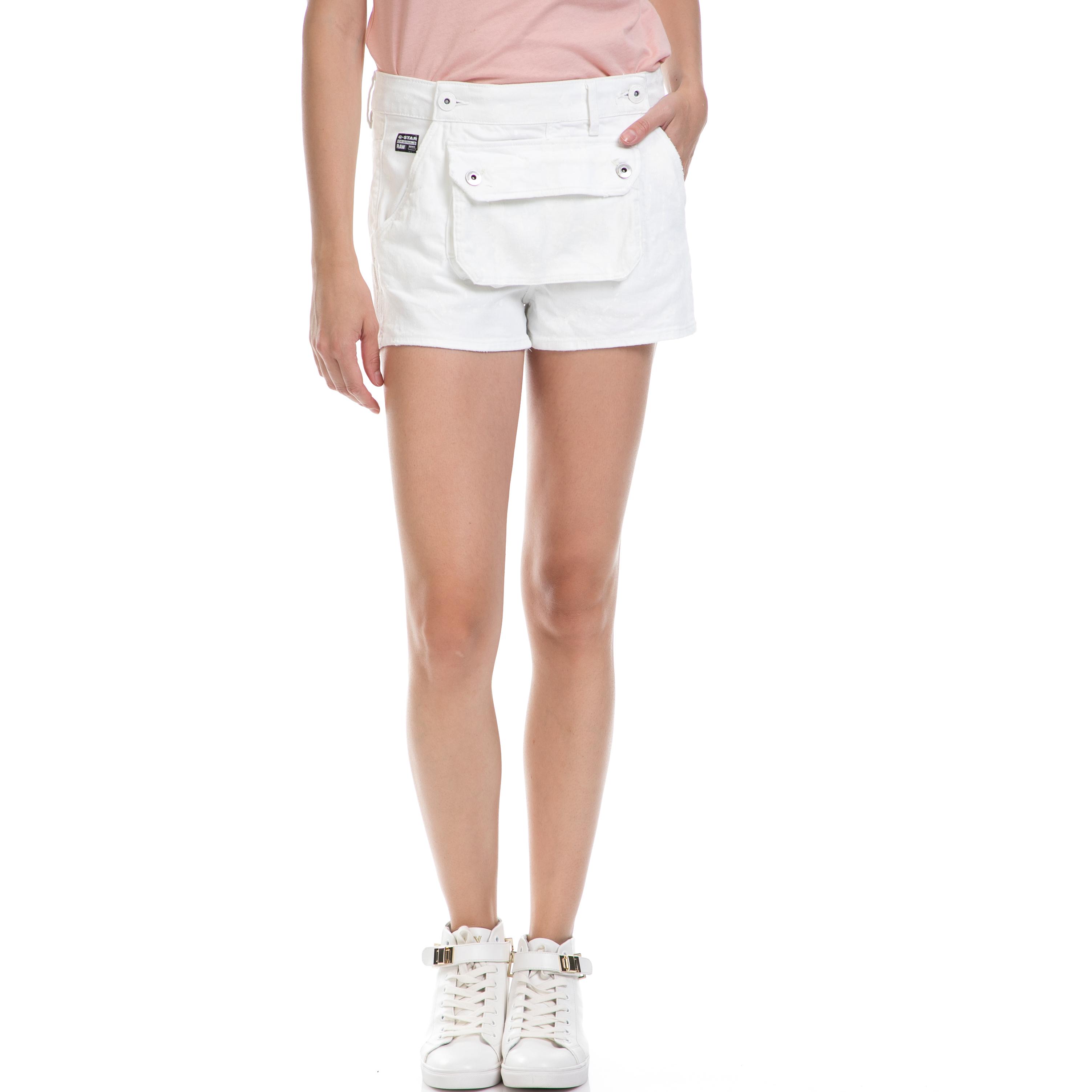 G-STAR - Γυναικείο σορτς G-STAR RAW άσπρο γυναικεία ρούχα σορτς βερμούδες casual jean
