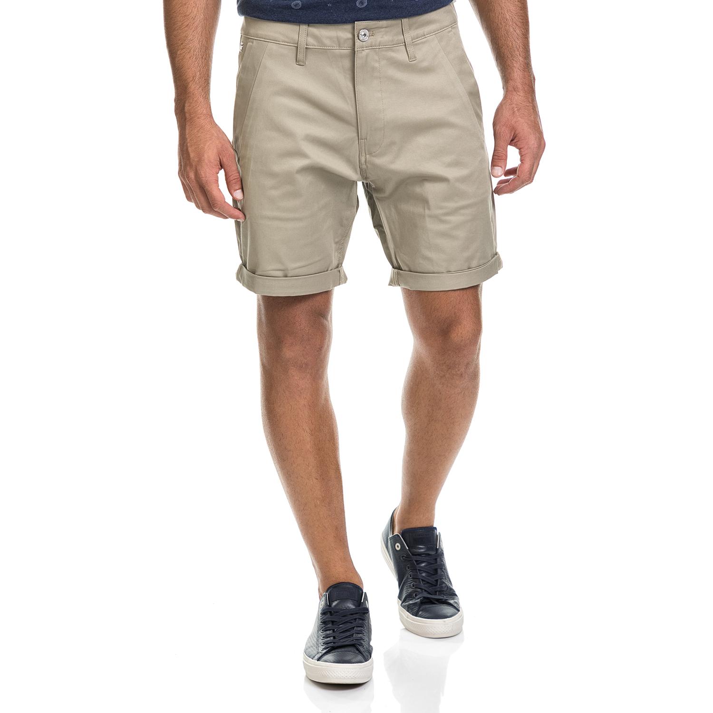 G-STAR RAW - Ανδρική βερμούδα BRONSON μπεζ ανδρικά ρούχα σορτς βερμούδες casual jean