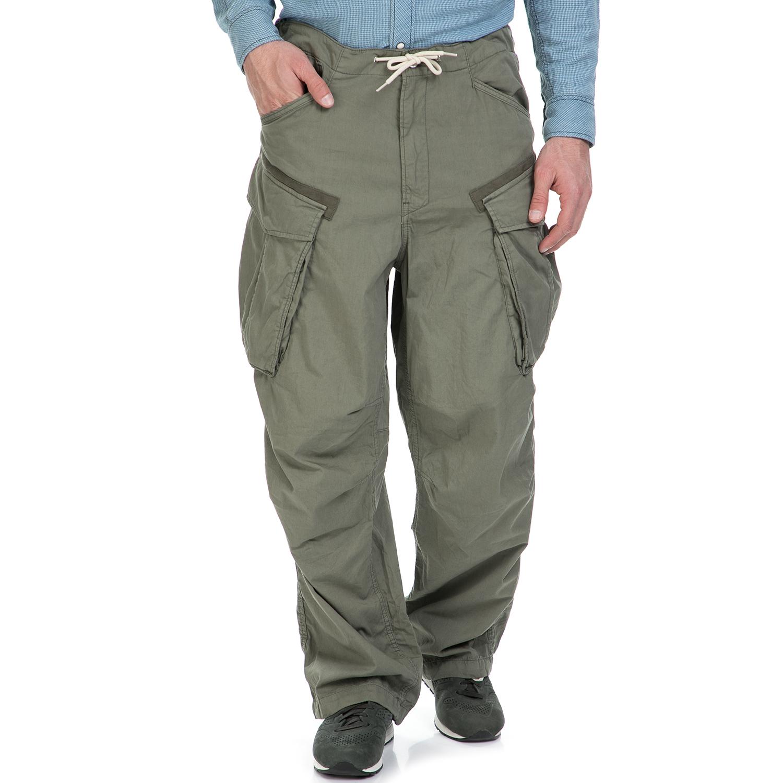 G-STAR RAW - Ανδρικό παντελόνι G-Star Raw Rovic parachute χακί ανδρικά ρούχα παντελόνια cargo