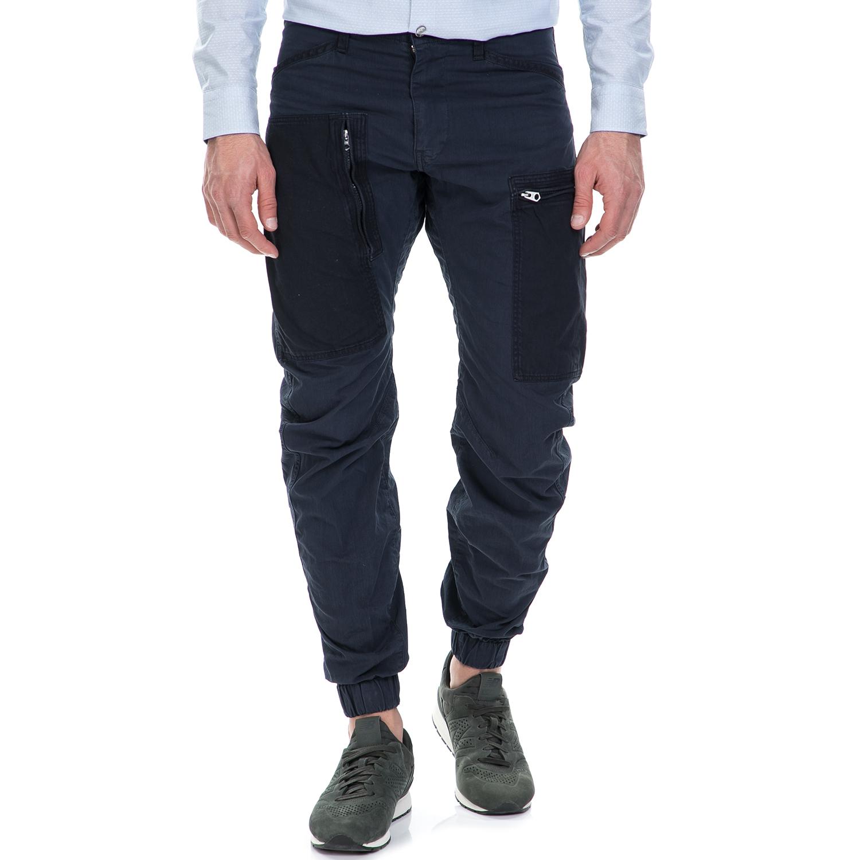 G-STAR RAW - Ανδιρκό παντελόνι G-Star Raw Powel PM 3D tapered cuffe μπλε ανδρικά ρούχα παντελόνια cargo