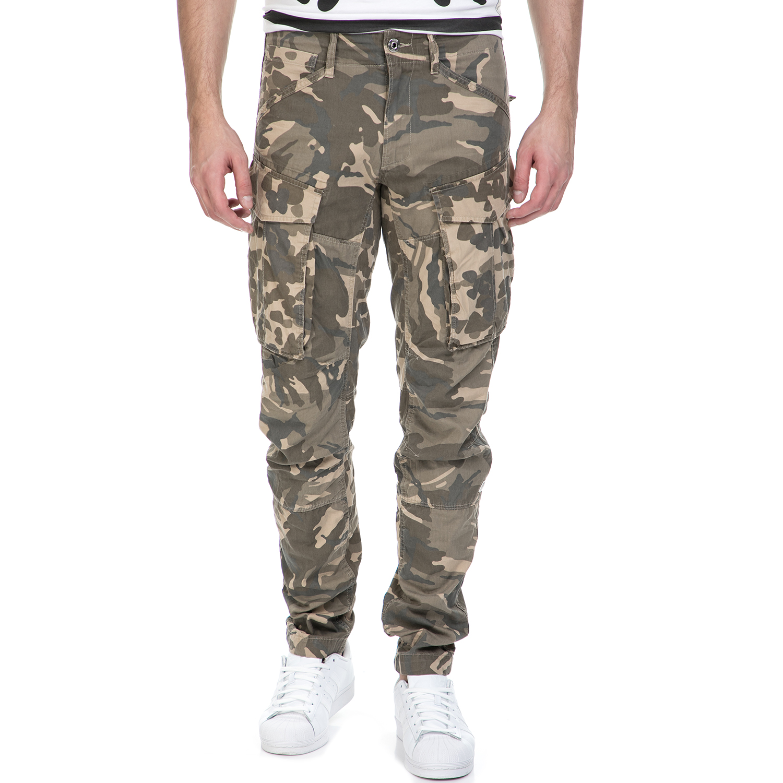 G-STAR RAW - Ανδρικό παντελόνι G-Star Raw Rovic 3D tapered χακί ανδρικά ρούχα παντελόνια cargo