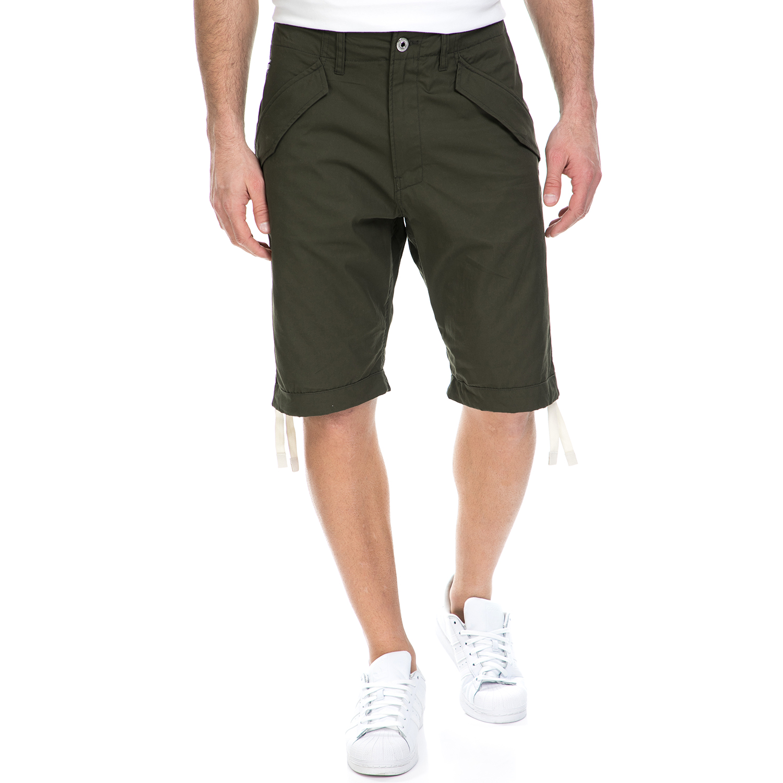 G-STAR RAW - Ανδρική βερμούδα G-Star Raw Rovic DC loose χακί ανδρικά ρούχα σορτς βερμούδες casual jean