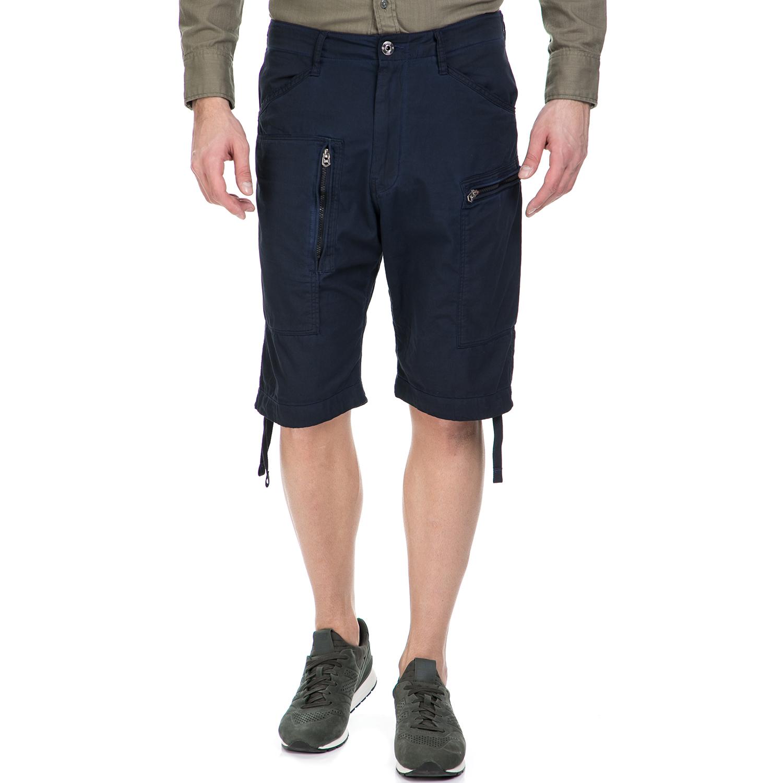 G-STAR RAW - Ανδρική βερμούδα G-Star Raw Powel loose σκούρα μπλε ανδρικά ρούχα σορτς βερμούδες casual jean