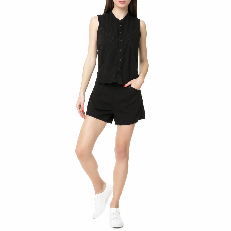 G-STAR RAW - Γυναικείο τζιν ολόσωμο σορτς Powel Short Suit μαύρο γυναικεία ρούχα ολόσωμες φόρμες