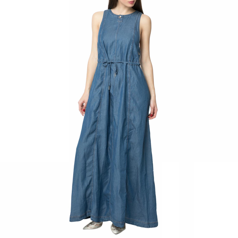 G-STAR RAW - Γυναικείο τζιν μάξι φόρεμα G-STAR RAW μπλε γυναικεία ρούχα φορέματα μάξι