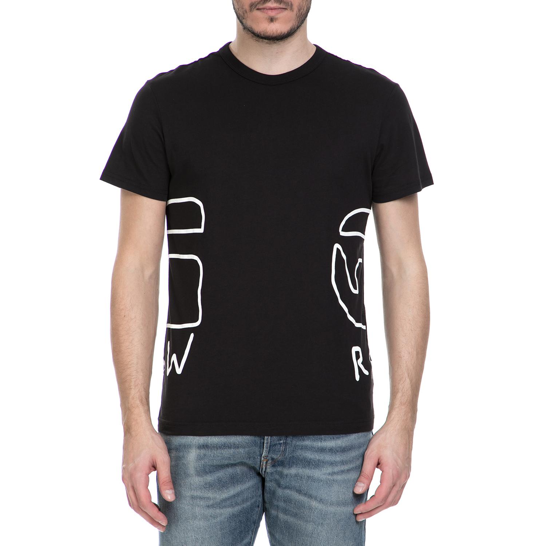 G-STAR RAW - Ανδρική κοντομάνικη μπλούζα G-Star Raw Rituum μαύρη ανδρικά ρούχα μπλούζες κοντομάνικες
