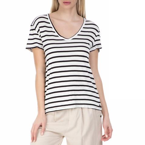 42f3dc0c6343 Γυναικεία κοντομάνικη μπλούζα GARCIA JEANS με ρίγες (1538753.0-0071 ...