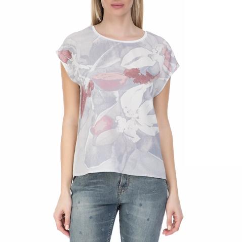 eff08c9893f7 Γυναικεία κοντομάνικη μπλούζα GARCIA JEANS λευκή με φλοράλ μοτίβο  (1538779.0-0090)