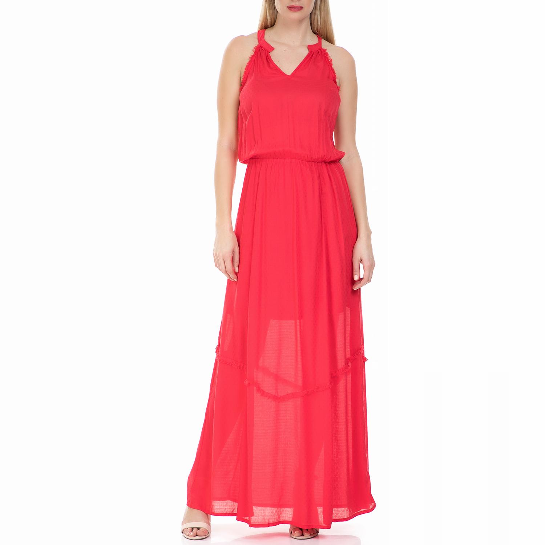 GARCIA JEANS - Μάξι φόρεμα GARCIA JEANS κοραλλί γυναικεία ρούχα φορέματα μάξι