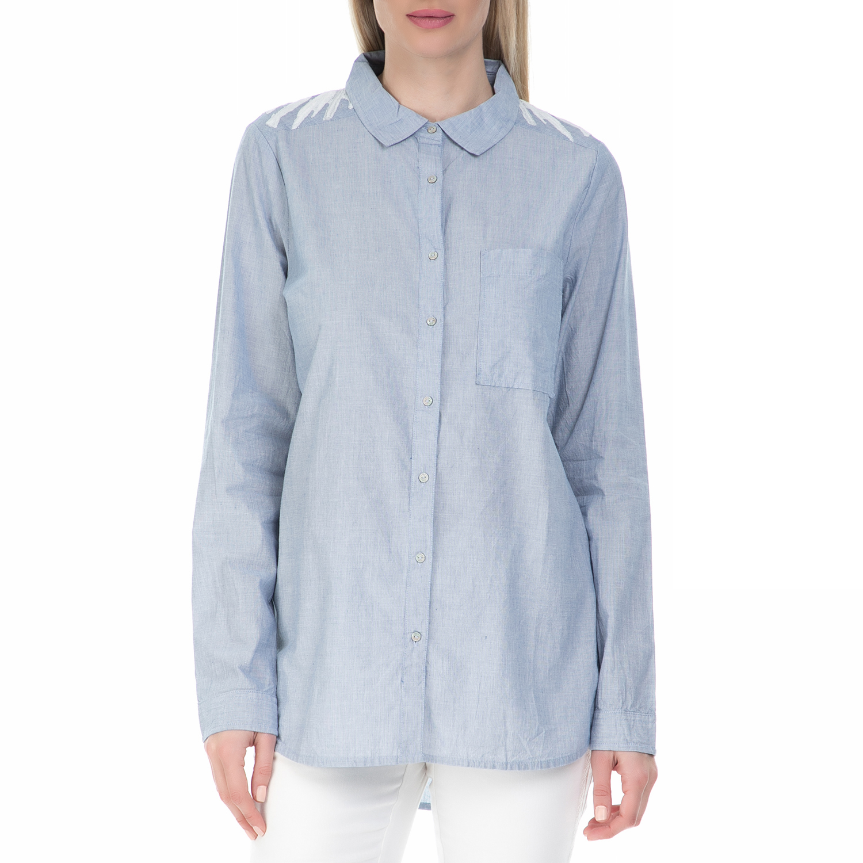 004b896d3855 GARCIA JEANS – Γυναικείο πουκάμισο GARCIA JEANS γαλάζιο