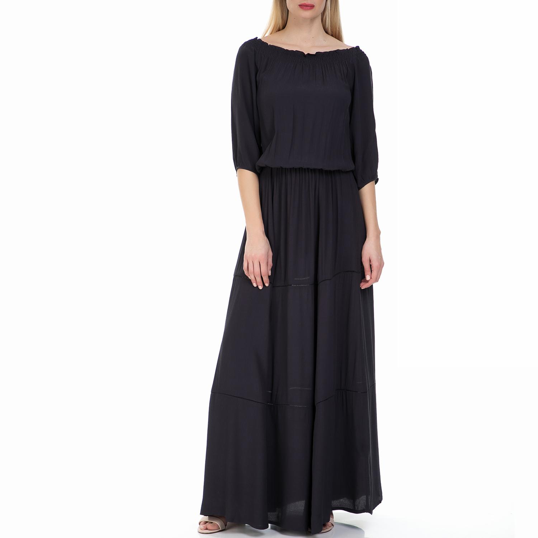 GARCIA JEANS - Μάξι φόρεμα GARCIA JEANS μαύρο γυναικεία ρούχα φορέματα μάξι