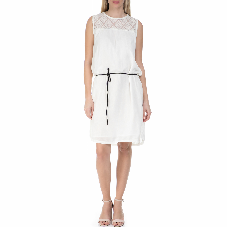 GARCIA JEANS - Γυναικείο μίνι φόρεμα Garcia Jeans λευκό γυναικεία ρούχα φορέματα μίνι