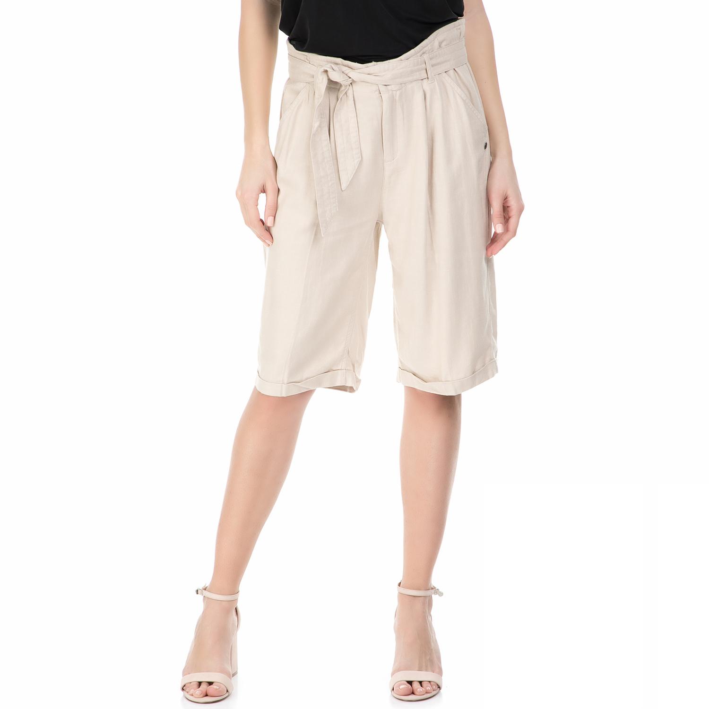 GARCIA JEANS - Γυναικεία βερμούδα GARCIA JEANS μπεζ γυναικεία ρούχα σορτς βερμούδες casual jean