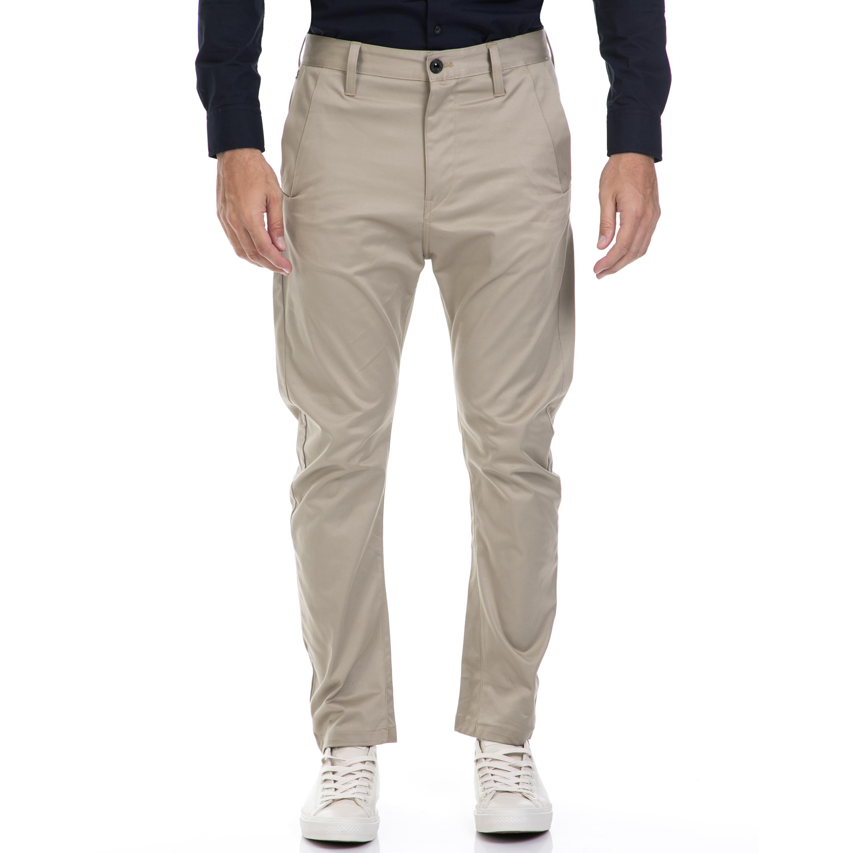 G-STAR RAW - Αντρικό παντελόνι G-STAR RAW μπεζ ανδρικά ρούχα παντελόνια chinos