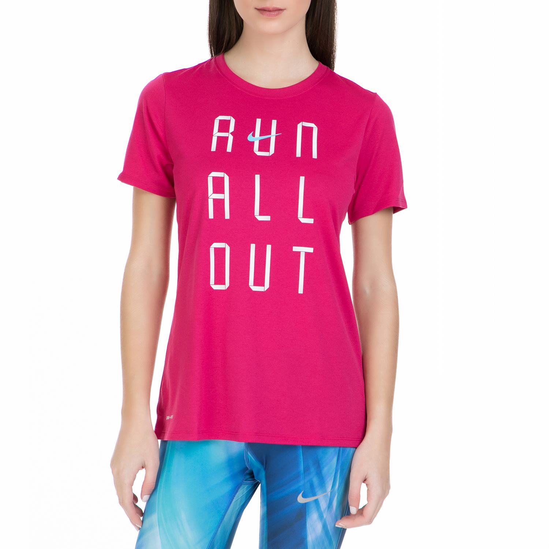 NIKE - Γυναικεία κοντομάνικη μπλούζα Nike φούξια ff936f0b5ee