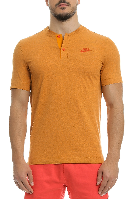 NIKE - Ανδρική πόλο μπλούζα Nike πορτοκαλί ανδρικά ρούχα μπλούζες πόλο