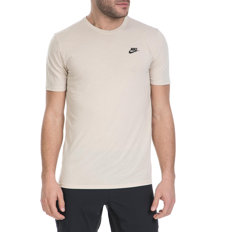 ac6f3f3b4b64 NIKE – Ανδρικό κοντομάνικο μπλουζάκι Nike μπεζ 1539911.1-M871 18