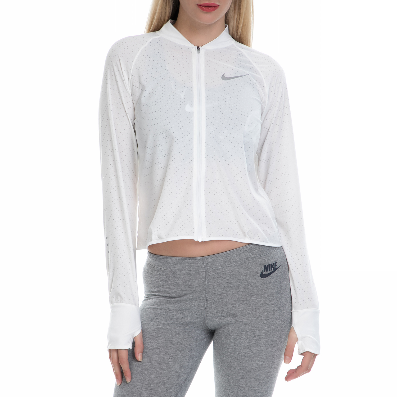 NIKE - Γυναικείο αθλητικό τζάκετ NΙKΕ JKT CITY λευκό γυναικεία ρούχα πανωφόρια μπουφάν
