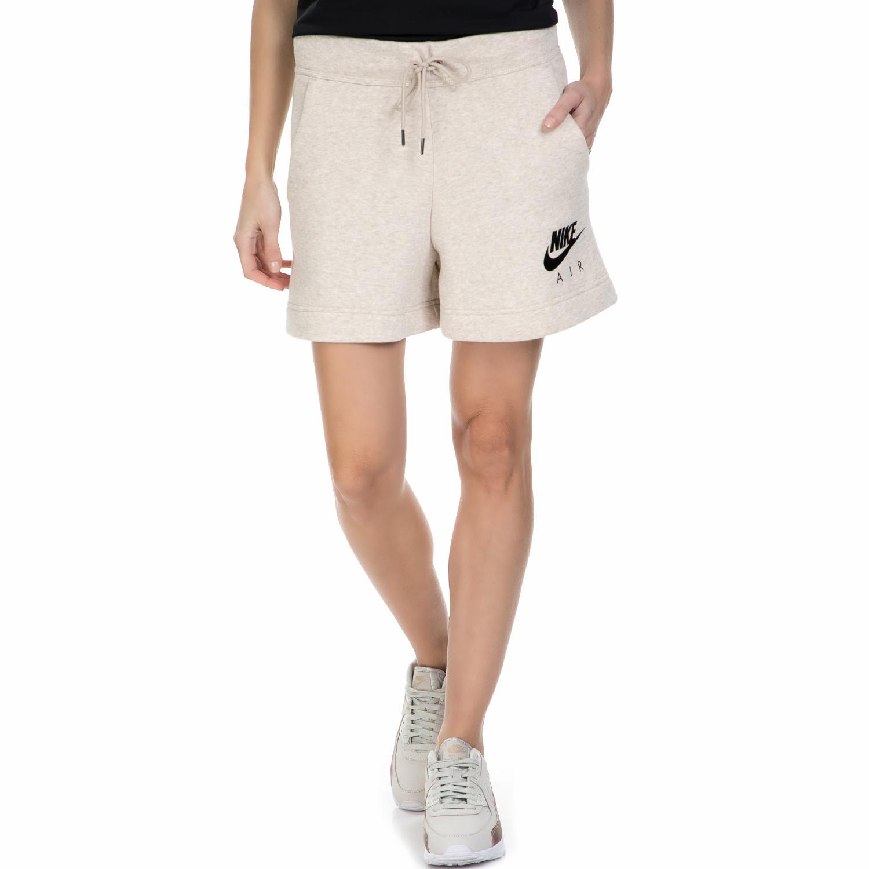 NIKE - Γυναικείο σορτς Nike AIR μπεζ γυναικεία ρούχα σορτς βερμούδες αθλητικά