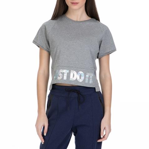 Γυναικεία κοντομάνικη μπλούζα Nike γκρι (1540308.1-g880)  e86dd165409