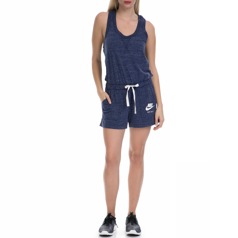 a1ff6f812a NIKE - Γυναικεία αθλητική ολόσωμη φόρμα ΝΙΚΕ NSW GYM VNTG RMPR μπλε