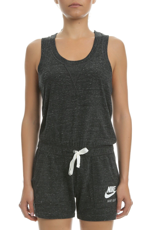 NIKE - Γυναικεία ολόσωμη φόρμα με σορτς Nike Sportswear γκρι γυναικεία ρούχα σορτς βερμούδες αθλητικά