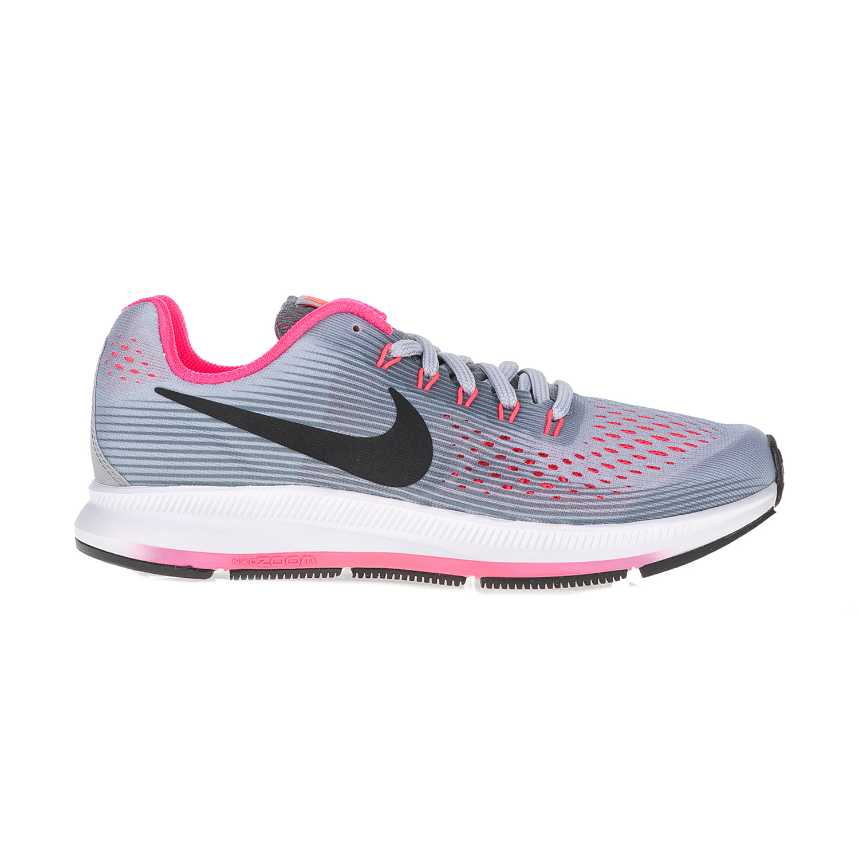 d534fbe8dcd NIKE – Παιδικά αθλητικά παπούτσια NIKE ZOOM PEGASUS 34 (GS) γκρι – ροζ.  Factoryoutlet