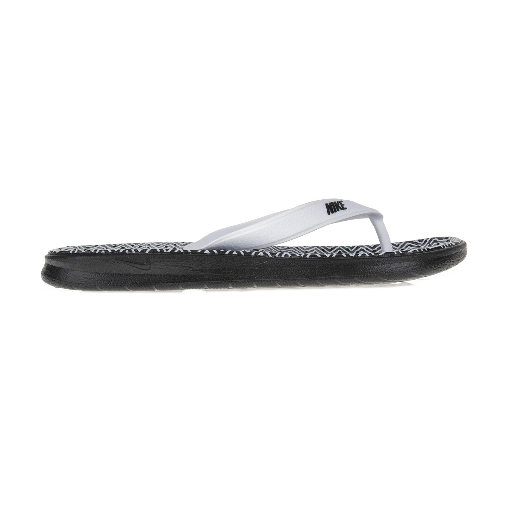 NIKE – Γυναικείες σαγιονάρες NIKE SOLAY THONG μαύρο-λευκό μοτίβο