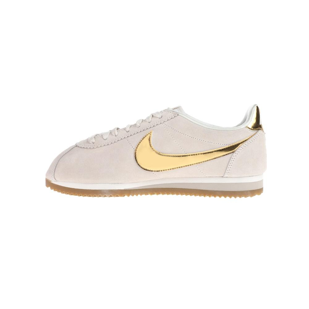 NIKE – Γυναικεία αθλητικά NIKE CLASSIC CORTEZ SE λευκά χρυσά