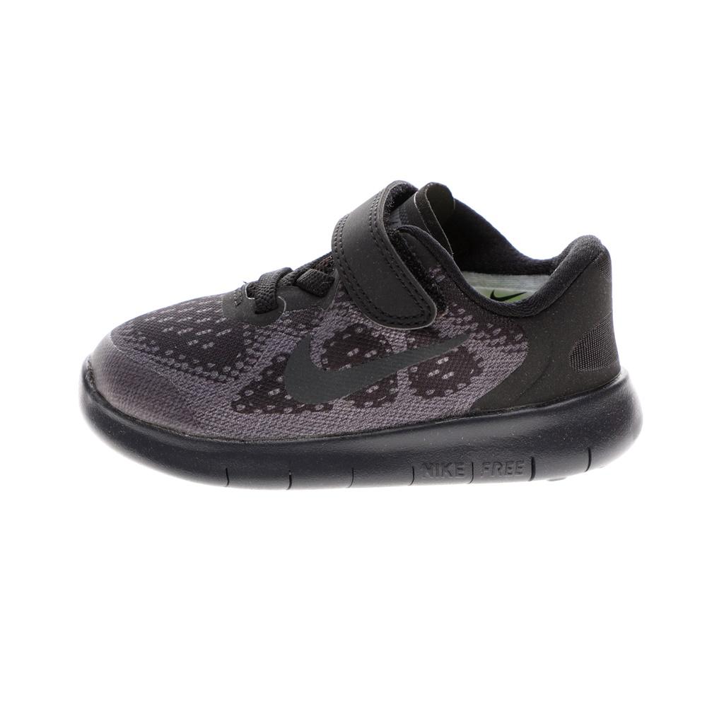 NIKE – Βρεφικά παπούτσια NIKE FREE RN 2017 (TDV) μαύρα-γκρί