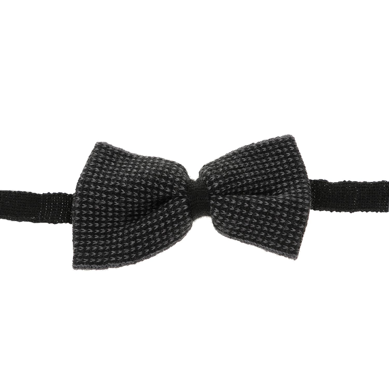 HAMAKI - Ανδρικό παπιγιόν HAMAKI μαύρο-γκρι ανδρικά αξεσουάρ γραβάτες παπιγιόν