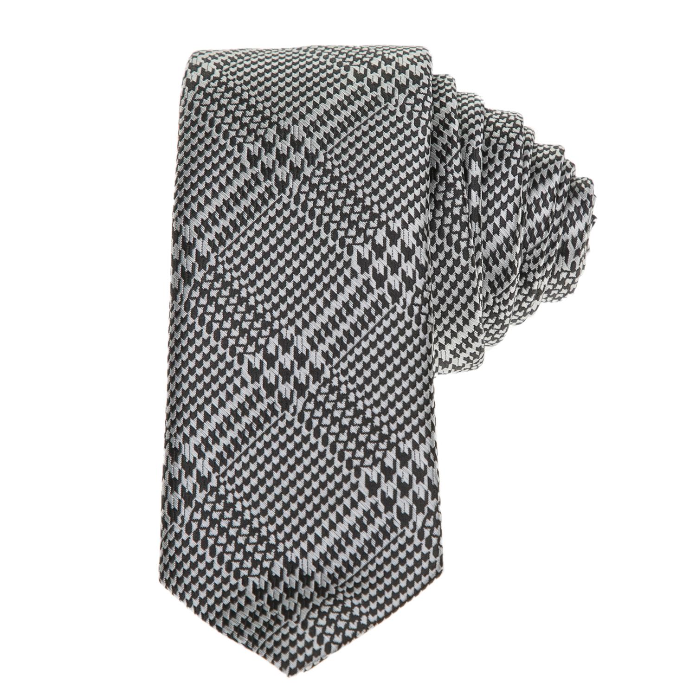 HAMAKI HO - Ανδρική γραβάτα Hamaki Ho ασπρόμαυρη ανδρικά αξεσουάρ γραβάτες