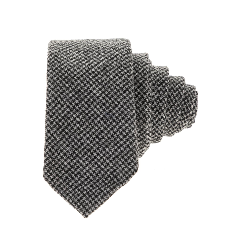 HAMAKI - Ανδρική γραβάτα HAMAKI μαύρη-γκρι ανδρικά αξεσουάρ γραβάτες